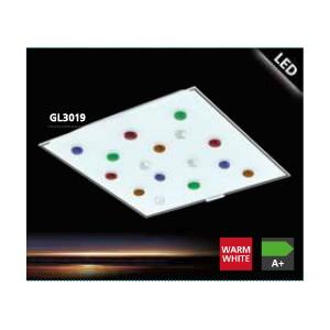 ПЛАФОН SANTIAGO 1 цветни стъклени камъчета
