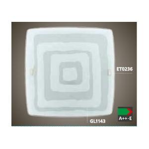ПЛАФОН BORGO 1 510х510 бял с декор