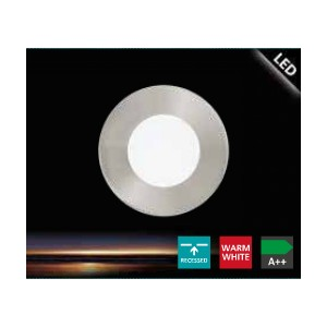 ЛУНА 2.7W ф.78 3000K FUEVA 1 никел мат