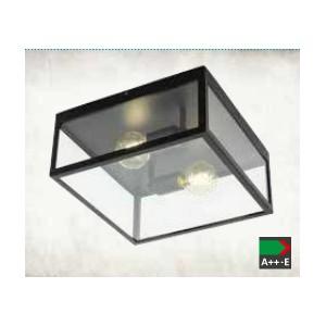 ПЛАФОН CHARTERHOUSE черен/прозрачно стъкло